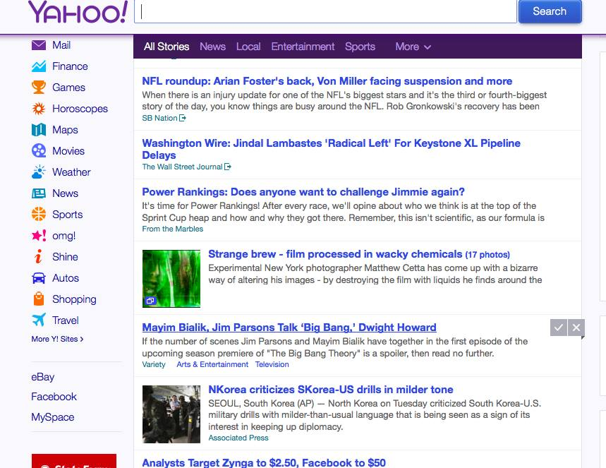 Dudes, I'm On The Front Page Of Yahoo